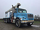 Terex BT3470, Hydraulic Crane mounted behind cab on 2004 Freightliner FL112 T/A Flatbed Truck, PTO reads (1145) hours