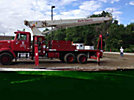 Terex BT4792, Hydraulic Crane, mounted behind cab on, 2001 Western Star 4864FX T/A Flatbed Truck