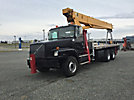 Terex BT4792, Hydraulic Crane mounted behind cab on 2001 Volvo 330 T/A Flatbed Truck