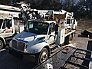 Terex Commander 4047, Digger Derrick, rear mounted on, 2007 International 4300 Flatbed/Utility Truck