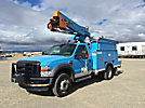Terex LT38, Articulating & Telescopic Bucket Truck, mounted behind cab on, 2008 Ford F550 4x4 Service Truck, 1234 PTO hours