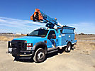 Terex LT38, Articulating & Telescopic Bucket Truck, mounted behind cab on, 2008 Ford F550 4x4 Service Truck