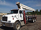 Terex-RO BT4792, Hydraulic Crane, mounted behind cab on, 2001 Peterbilt 330 T/A Flatbed Truck