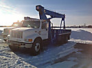 Terex-RO TC2851, Hydraulic Crane, mounted behind cab on, 2000 International 4900 T/A Flatbed Truck