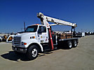 Terex TC3063, Hydraulic Crane, mounted behind cab on, 2000 Sterling L7500 T/A Flatbed Truck