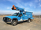 Terex TL38P, Articulating & Telescopic Bucket Truck, mounted behind cab on, 2007 Ford F550 4x4 Service Truck, 499 PTO hours