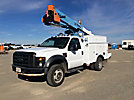 Terex TL38P, Articulating & Telescopic Bucket Truck, mounted behind cab on, 2008 Ford F550 4x4 Service Truck, 638 PTO hours