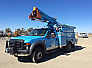Terex TL38P, Articulating & Telescopic Bucket Truck, mounted behind cab on, 2008 Ford F550 4x4 Service Truck