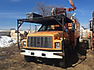 Terex XT55, Over-Center Bucket Truck, mounted behind cab on, 2000 GMC C7500 Chipper Dump Truck