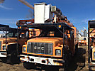 Terex XT55, Over-Center Bucket Truck, mounted behind cab on, 2002 GMC C7500 Chipper Dump Truck