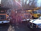 Terex XT55, Over-Center Bucket Truck, mounted behind cab on, 2002 GMC C7500 Chipper Dump Truck