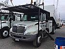 Terex XT55, Over-Center Bucket Truck, mounted behind cab on 2006 International 4300 Chipper Dump Truck,