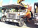 Terex XT60/70, Over-Center Elevator Bucket Truck mounted behind cab on 2000 GMC C8500 Chipper Dump Truck
