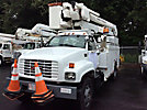 Terex/HiRanger HR46M, Material Handling Bucket Truck mounted behind cab on 2000 GMC C7500 Utility Truck