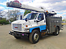 Terex/HiRanger SC45, Bucket Truck, mounted behind cab on, 2008 GMC C7500 Utility Truck