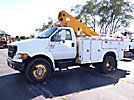 Terex/HiRanger TE403, Telescopic Insulated Bucket Truck mounted behind cab on 2000 Ford F650 Utility Truck