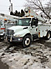 Terex/HiRanger TE403, Telescopic Non-Insulated Bucket Truck, mounted behind cab on, 2003 International 4300 Utility Truck