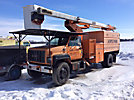 Terex/HiRanger XT60/70, Over-Center Elevator Bucket Truck, mounted behind cab on, 2001 GMC C8500 Chipper Dump Truck