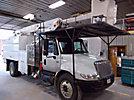 Terex/HiRanger XT60/70, Over-Center Elevator Bucket Truck, mounted behind cab on, 2005 International 4300 Chipper Dump Truck
