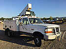 Terex/Telelect C327, Telescopic Non-Insulated Bucket Truck mounted behind cab on 1997 Ford F450 Service Truck