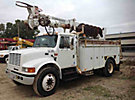 Terex/Telelect Commander 4045, Digger Derrick, rear mounted on, 2001 International 4700 Utility Truck