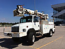 Terex/Telelect Commander 4045, Digger Derrick, rear mounted on, 2004 Freightliner FL80 4x4 Utility Truck