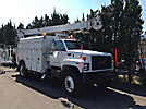 Terex/Telelect Commander 4050, Digger Derrick, corner mounted on, 1999 GMC C7500 Enclosed Utility Truck
