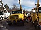 Terex/Telelect/HiRanger 46-OM, Material Handling Bucket Truck, rear mounted on, 1999 International 4900 Utility Truck