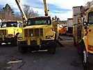 Terex/Telelect/HiRanger 46-OM, Material Handling Bucket Truck, rear mounted on, 2001 International 4900 Utility Truck