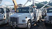 Terex/Telelect/HiRanger 46-OM, Material Handling Bucket Truck, rear mounted on, 2003 Freightliner FL70 Utility Truck
