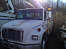 Terex/Telelect/HiRanger SC42, Over-Center Bucket Truck, center mounted on, 2003 Freightliner FL70 Utility Truck