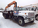 Tico 772H, Hydraulic Knuckle Boom Crane mounted behind cab on 1991 GMC Topkick Flatbed Truck