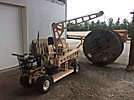 Tiger 1140A, 2200 lbs. Mini Rubber Tired Back Yard Crane, s/n 0003, gas, with two wheeled dolly, eight-piece manual boom (Reads ____ Hours)