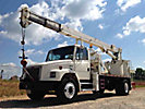 USTC 1250JBT, Hydraulic Crane, rear mounted on, 2001 Freightliner FL80 T/A Flatbed Truck