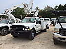 Versalift Articulating & Telescopic Bucket Truck mounted behind cab on 2002 Ford F550 4x4 Service Truck