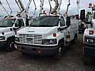 Versalift SST37, Articulating & Telescopic Bucket Truck, mounted behind cab on, 2004 Chevrolet C5500 Utility Truck