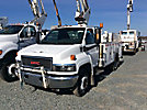Versalift SST37EIH, Articulating & Telescopic Bucket Truck mounted behind cab on 2008 GMC C5500 Service Truck