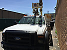 Versalift SST37ENH, Articulating & Telescopic Non-Insulated Bucket Truck mounted behind cab on 2008 Ford F550 Service Truck