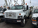 Versalift SST40, Articulating & Telescopic Bucket Truck, mounted behind cab on, 2003 GMC C7500 Utility Truck