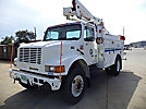 Versalift SST40EIH, Articulating & Telescopic Bucket Truck, mounted behind cab on, 2002 International 4700 Utility Truck