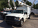 Versalift TEL29, Telescopic Non-Insulated Bucket Truck, mounted behind cab on, 2002 Ford F450 Service Truck