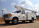 Versalift TEL29GA, Telescopic Non-Insulated Bucket Truck, mounted behind cab on, 1990 Ford F350 Service Truck