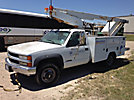 Versalift TEL29N, Telescopic Non-Insulated Bucket Truck, mounted behind cab on, 1999 Chevrolet K3500 4x4 Service Truck