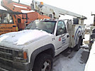 Versalift TEL29N, Telescopic Non-Insulated Bucket Truck, mounted behind cab on, 2001 Chevrolet C3500 Service Truck