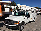 Versalift TEL29N, Telescopic Non-Insulated Bucket Truck mounted behind cab on 2000 Ford F350 Service Truck