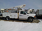 Versalift TEL29NE, Telescopic Non-Insulated Bucket Truck, mounted behind cab on, 1999 Ford F550 Service Truck