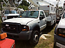 Versalift TEL29NE03, Telescopic Non-Insulated Bucket Truck, mounted behind cab on, 2006 Ford F450 Enclosed Service Truck