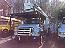 Versalift V0255, Over-Center Bucket Truck, mounted behind cab on, 2007 Ford F750 Chipper Dump Truck