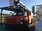 Versalift V0255, Over-Center Bucket Truck mounted behind cab on 2000 International 4700 Chipper Dump Truck