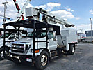 Versalift V0255REV01, Over-Center Bucket Truck, mounted behind cab on, 2008 Ford F750 Chipper Dump Truck